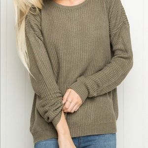Brandy Melville Green Ollie Sweater